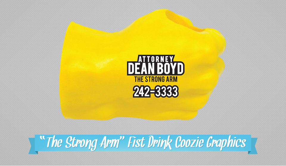 Coozie Branding Graphics | Design, Branding, Advertising, & Marketing for Attorney Dean Boyd | Octane Studios Amarillo, TX