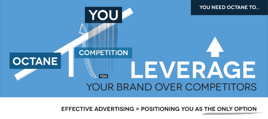 Octane specializes in LEVERAGING BRANDS OVER THEIR COMPETITION