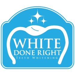White Done Right Teeth Whitening Logo Design by Octane Studios in Amarillo, Texas