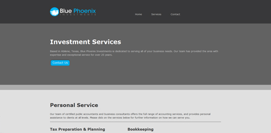 Blue Phoenix Investments | Unique Website Design by Octane Studios