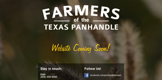 Farmers of the Texas Panhandle | Unique Website Design by Octane Studios
