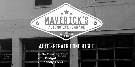Mavericks Automotive Garage | Unique Website Design by Octane Studios