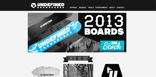 Undefined Snowboards | Unique Website Design by Octane Studios